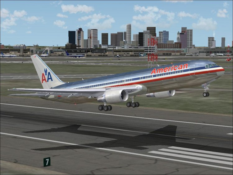 Files - American Airlines livery for the Boeing 767-300 (Level-D
