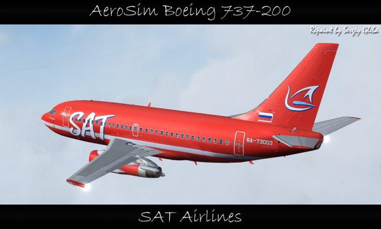 AeroSim Boeing 737-200 - SAT Airlines - FS2004 Aircraft