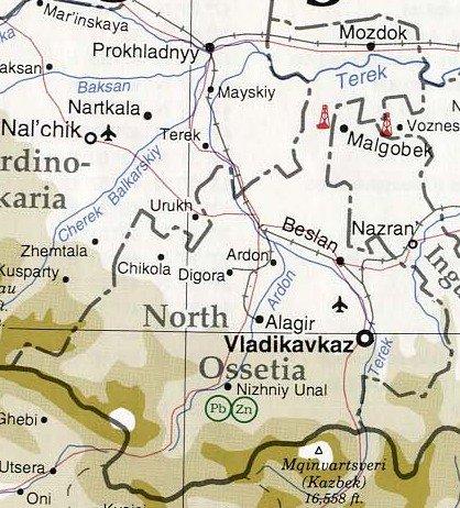 Карта алании на английском языке.