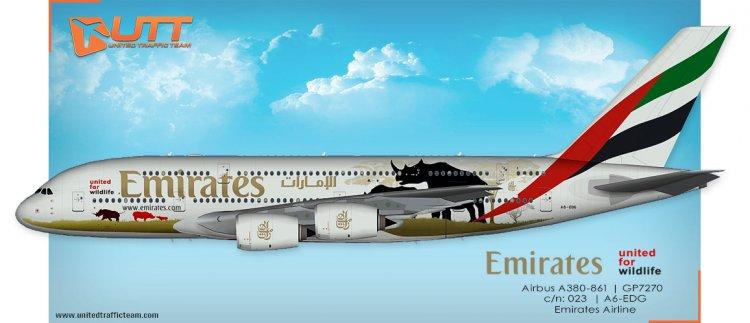 UTT AI Airbus A380 (TFS) Emirates A6-EDG