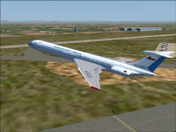 ČSA Il-62 and Il-62M for retro AI traffic - FS2004 AI