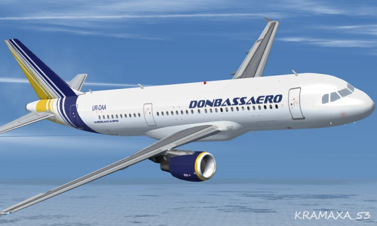 Wilco A320 Donbassaero - FSX Aircraft Liveries and Textures