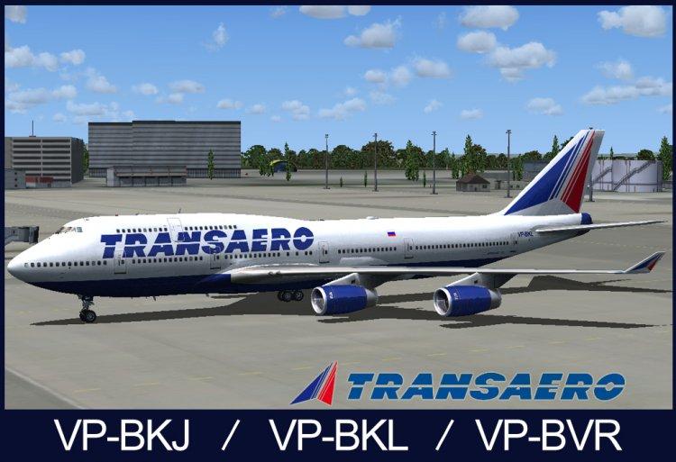 FSX Aircraft Liveries and Textures - Files - PMDG 747-400 Transaero