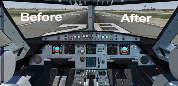 Virtual cockpit repaint for Blackbox Airbus-318,319,320 by