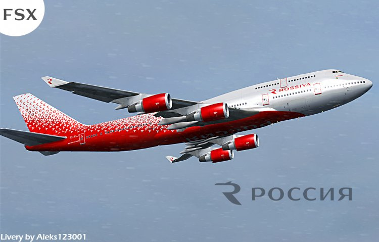 PMDG Boeing 747-400 - Rossiya airlines (updated) - FSX
