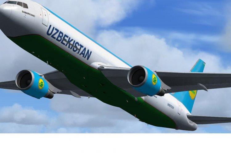 SkySpirit Boeing 767-300ERF Uzbekistan Airways Cargo - FSX