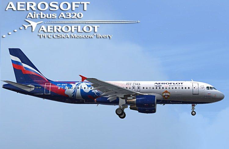 Files - Aerosoft Airbus A320 - Аeroflot, «PFC CSKA Moscow