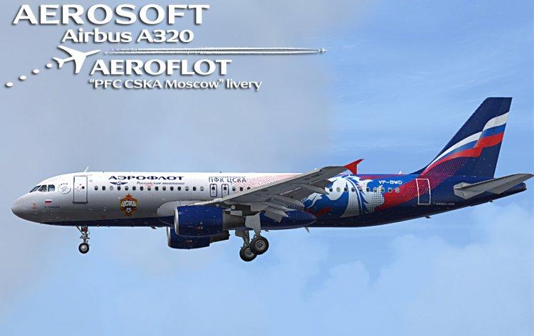 Files - Aerosoft Airbus A320 - Аeroflot, «PFC CSKA Moscow» livery