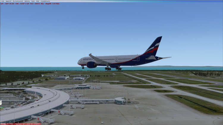 FSX QualityWings 787-9 in Aeroflot Fictional color - FSX