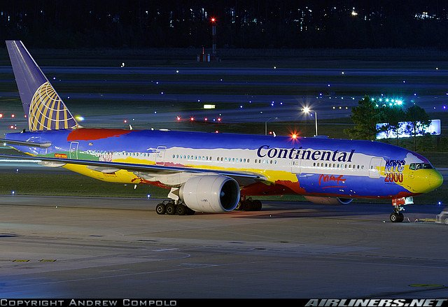 Boeing 777 Continental Airlines X Plane Aircrafts