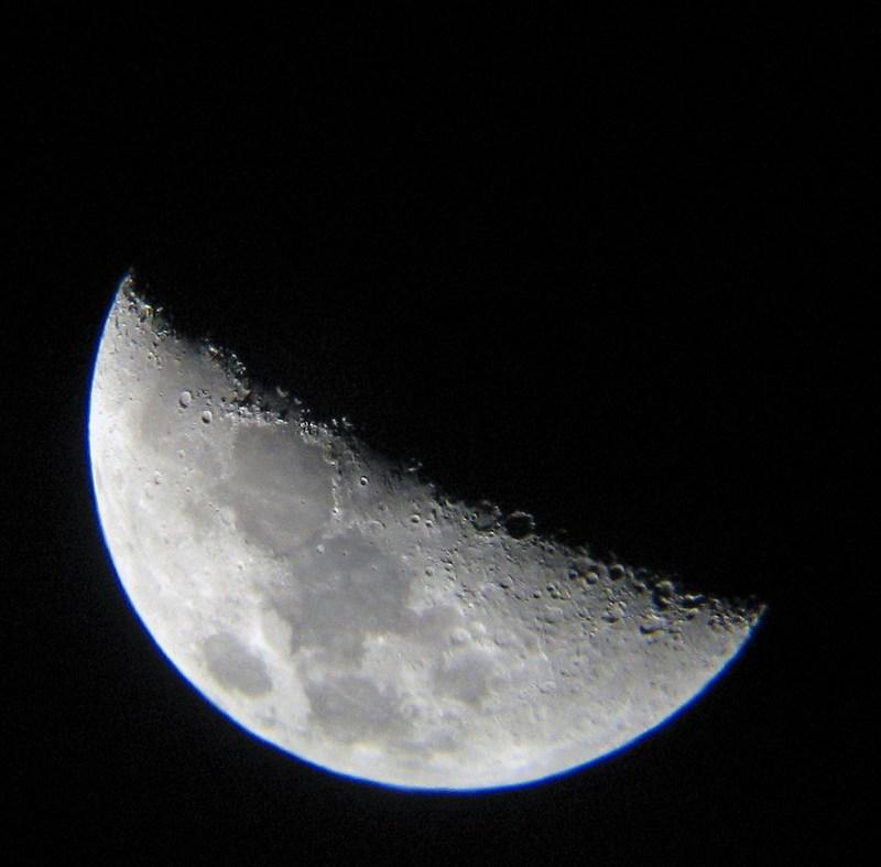 Как сделать большую луну на фото