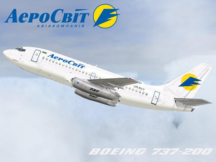 Boeing 737-200 Aerosvit model Tinmouse     - FS2004 Aircraft