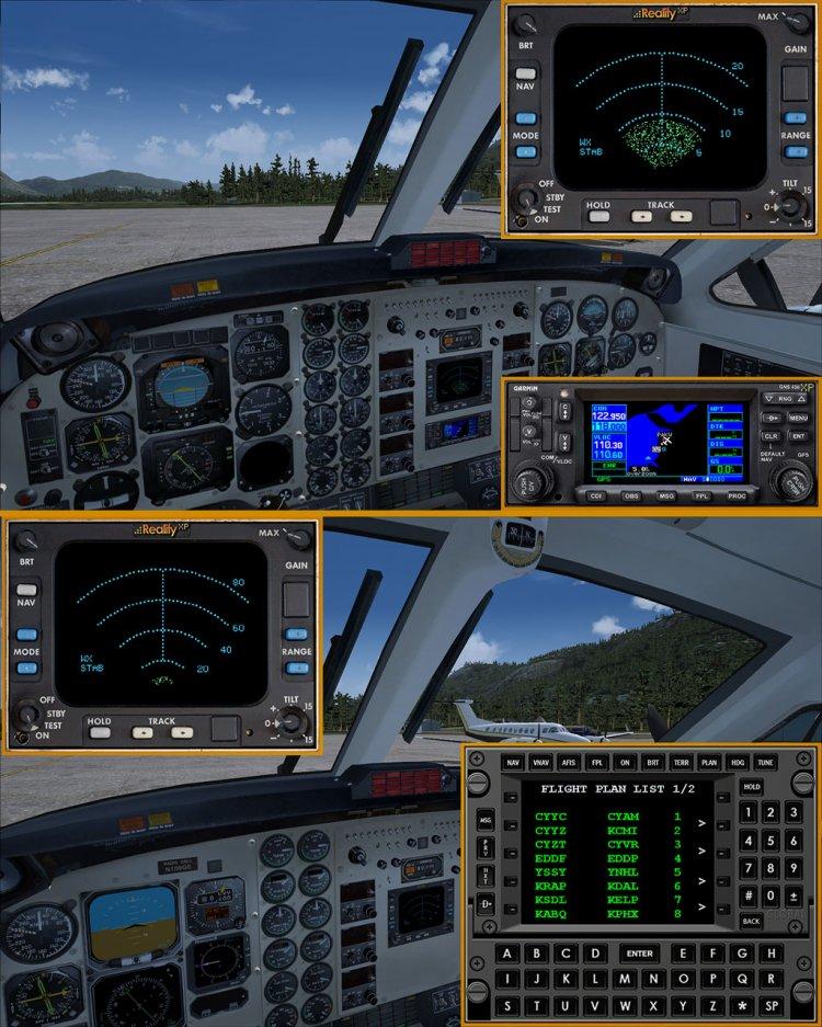 RealityXP & ISG panel mods for Aeroworx X-treme King Air B200 (The