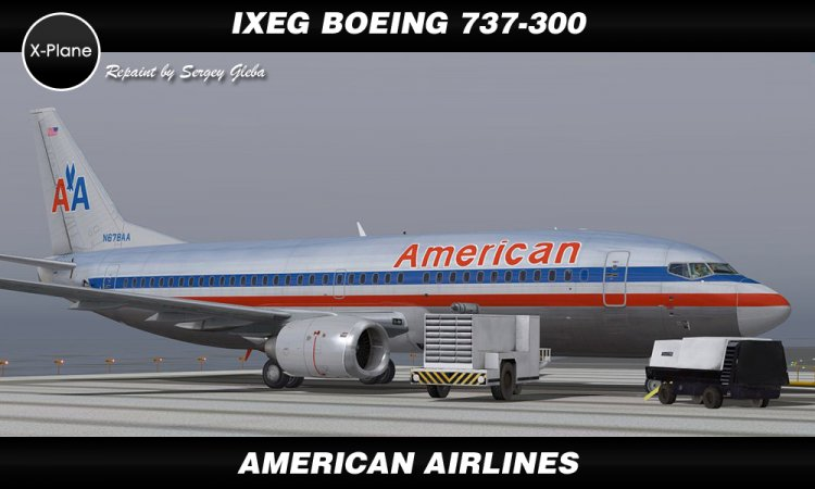 IXEG Boeing 737-300 - American Airlines - X-Plane Liveries