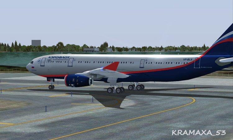 Wilco Aeroflot Airbus A330-200RR texture only - FSX Aircraft