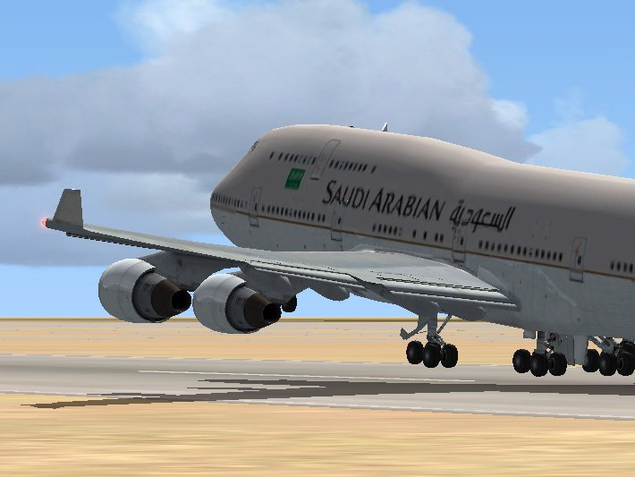 Files - This is a repaint of the FSX default Boeing 747-400 in Saudi Arabian colours. - Avsim.su