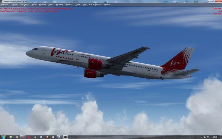 Boeing 757-200 Vim Avia RA-73016 for a payware aircraft Captain Sim