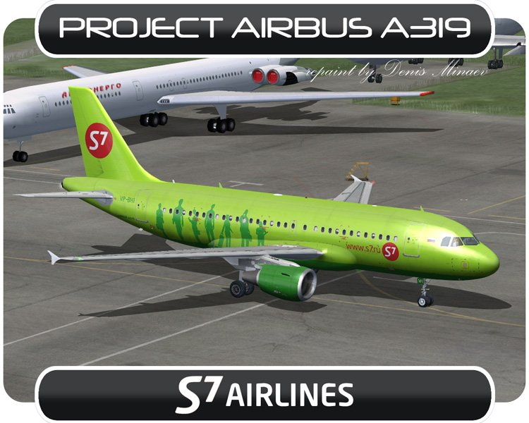 Project Airbus A319 with VC and 2D panels 20 liveries Denis Minaev