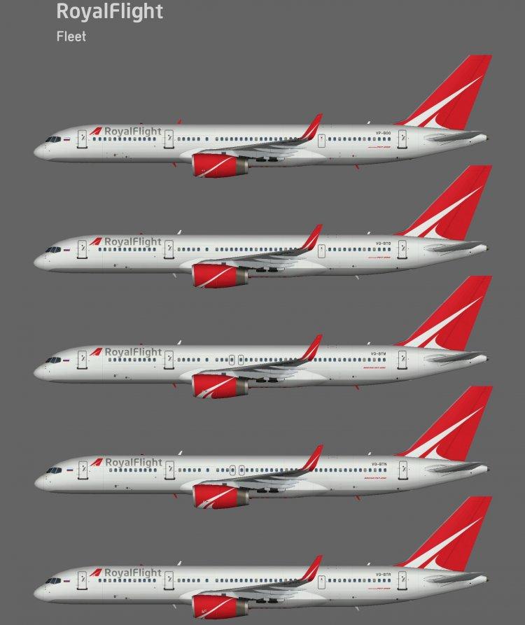 Package liveries model AI 757-200 WAIG Russian charter